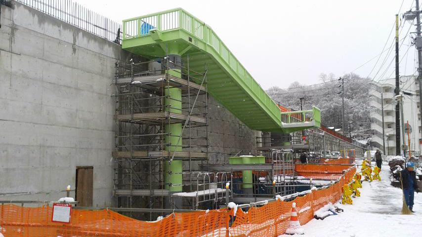 いわき湯本歩道橋階段製作